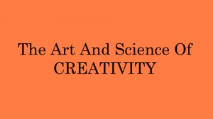 The Art & Science Of Creativity Slide