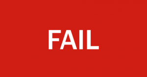 Sign that says FAIL