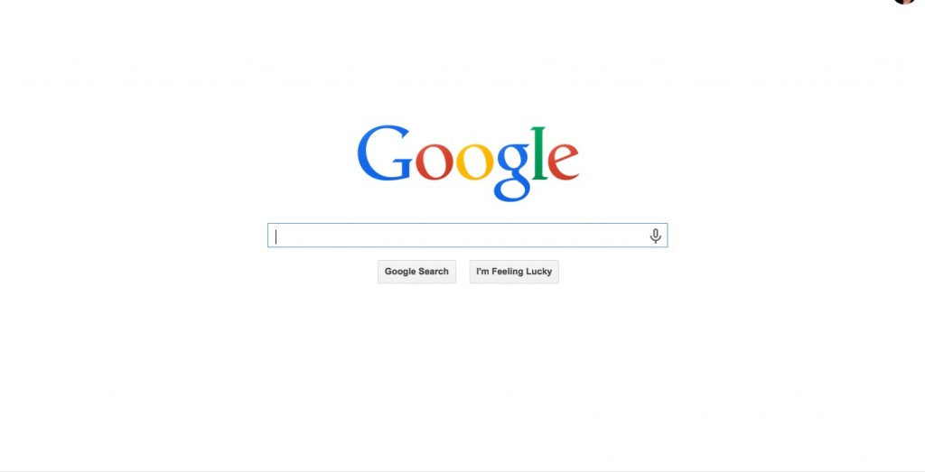 Picture of Google Home page