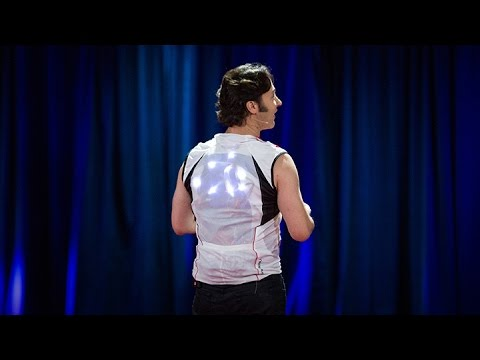picture of David Eagleman wearing his sensory vest