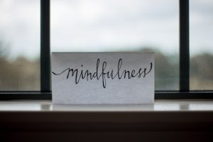 The word Mindfulness on a piece of paper