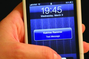 iphone with text message