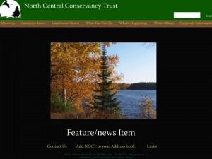 Picture of home page for Conservancy site