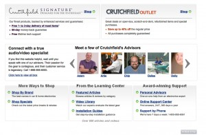 picture of Crutchfield web site