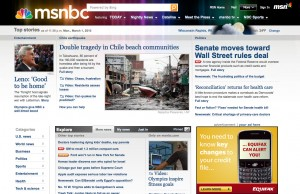 Picture of MSNBC website