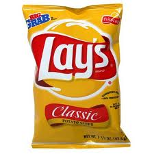 Lays potato chip bag