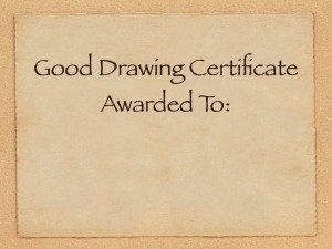 Picture of a Good Drawing Certificate