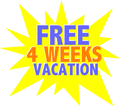 Ad for 4 weeks vacation