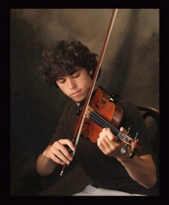 Person playing the violin