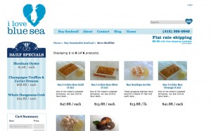 Product Page from I Love Blue Sea website