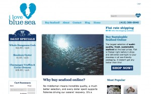 Picture of the current home page of ilovebluesea.com