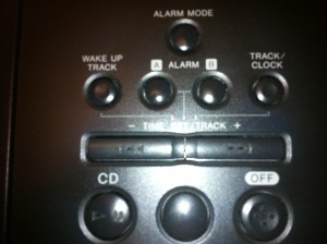 picture of top of sony clock radio